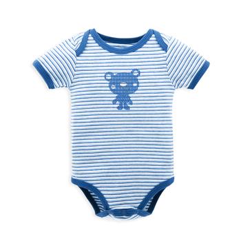 Factory Cheap Super Quality Bear Newborn Infant Summer Short Sleeve Snap  Crotch Boy Bodysuit Baby 37f9034ef