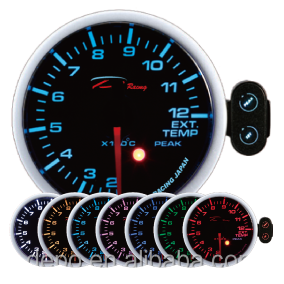 60mm 7-color Exhaust Gas Temp Japan Stepper Motor Racing Auto ...