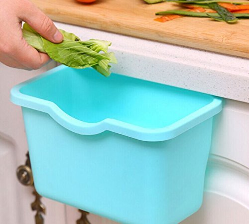 E-Bro 3PCS Creative Multifuctional Plastic Kitchen Desktop Hanging Food Waste Garbage Bin Rubbish Organizer Trash Junk Box Bedroom Storage Boxes Holder