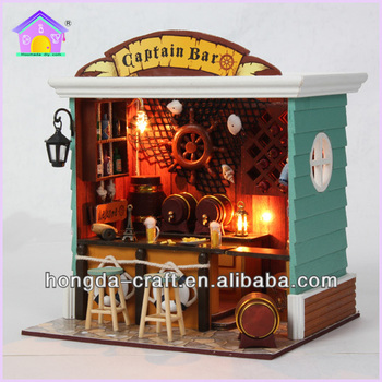 Wholesale Diy Wooden Craft Doll House Miniature For Christmas Gift ...