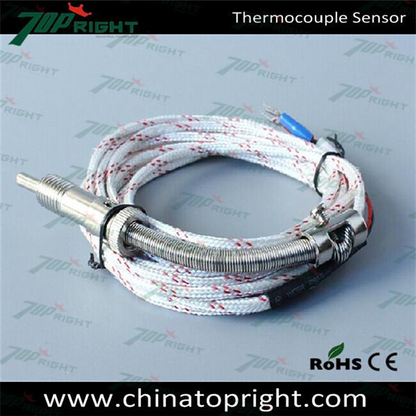 Platinum Rhodium Thermocouple Sensor With Lead Wires - Buy Platinum ...