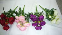9 heads bouquet flower silk artificial bouquet/artificial peony bouquet flower