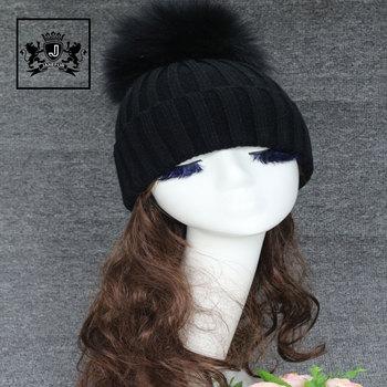 2080a07b949 Mùa đông Mùa Thu Pom Pom Beanies Hat Phụ Nữ Dệt Kim Len Skullies Casual Cap