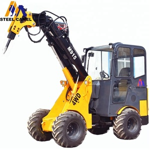 construction machinery hydraulic cutting machine mini digger loader with rock breaker hammer
