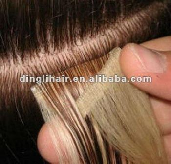 Hand Tied Seamless Skin Weft Hair Extension