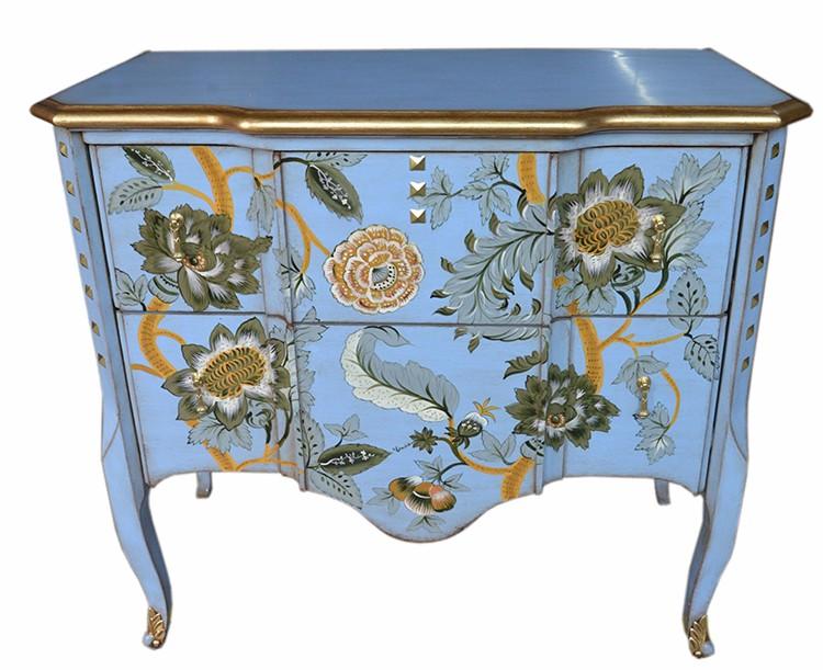 Prachtige Tv Kast.Prachtig Handgeschilderde Houten Decoratieve Kast Lockers Lcd Tv