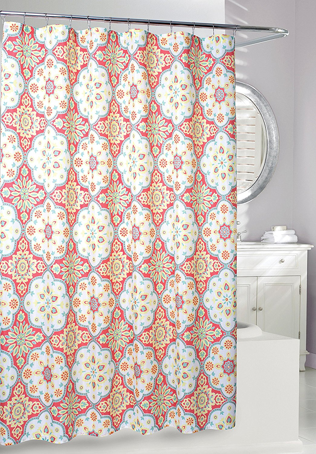 Get Quotations Moda At Home 204758 Tanya Fabric Shower Curtain 71 Inch X