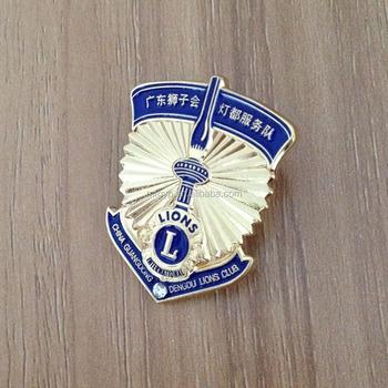 make your own logo design lion club metal name badge buy metal