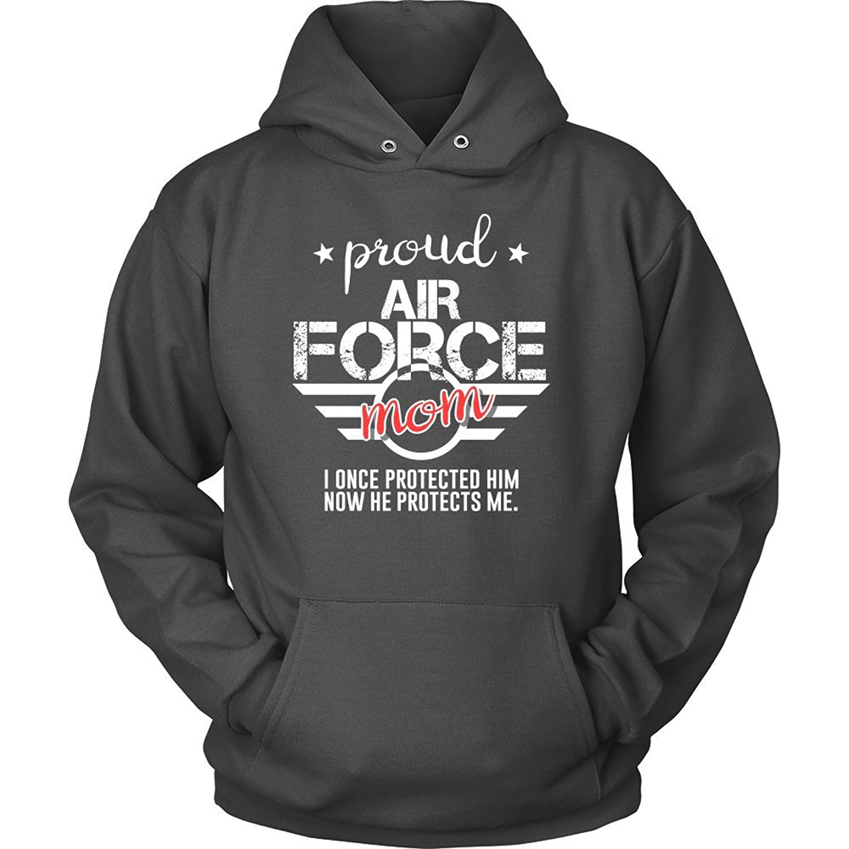 USAF Son Sweatshirt Air Force Parent Shirt Keep Calm My Son is an Airman Proud USAF Parents Grey USAF Son Hoodie
