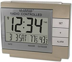 La Crosse Technology WS-8054U Wireless Digital Atomic Alarm clock with Indoor/Outdoor Temperature