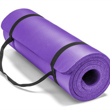Fitness Training Eco Friendly Non-slip NBR Yoga Mat With Carrying Strap