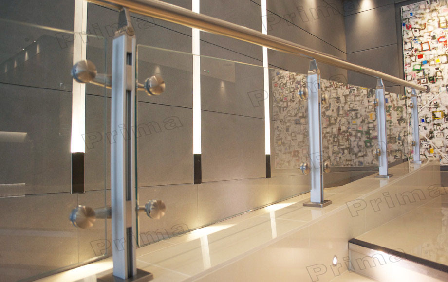 Stainless Steel Balcony Clear Glass Railing /stainless Steel ...