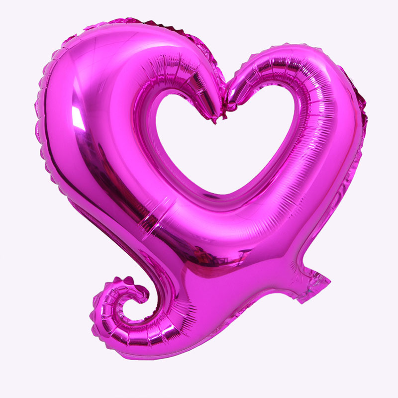 18inch Hook Heart-Shaped Foil Balloon Inflatable Helium Balloon For Valentines Day Wedding Party Decorations