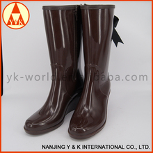 2016 new design women fashion jelly rain boots shoes