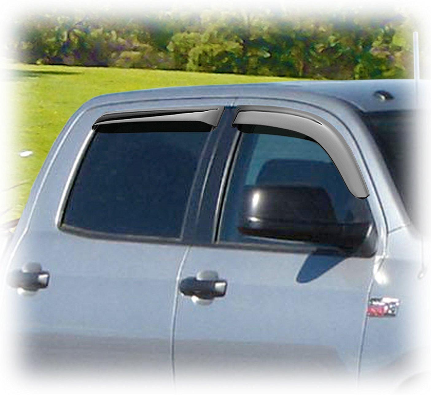 AUTEX 4Pcs Tape On Window Visor Compatible with Toyota Tacoma Crew Cab 2005 2006 2007 2008 2009 2010 2011 2012 2013 2014 2015 Window Deflector Sun Rain Guard
