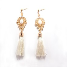 Wholesale Women Jewelry Accessory Retro Pearl Tassel Earring Fashion Drop Earring