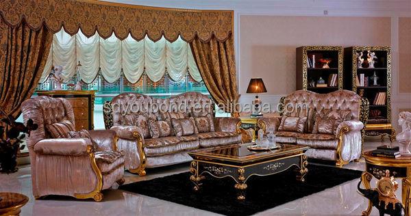 0061 Arabic Home Furniture Golden Antique Luxury Sofa