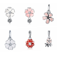 Dropshipping LZESHINE PDMB0368 6 Design Flower Necklace Pendant Fashion Jewelry 925 Sterling Silver Charm Pendants