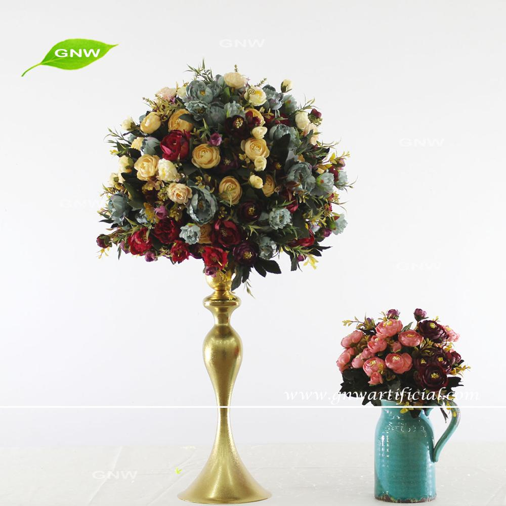 Gnw Retro Style Centerpieces Wedding Table Arrangement Tall Top ...