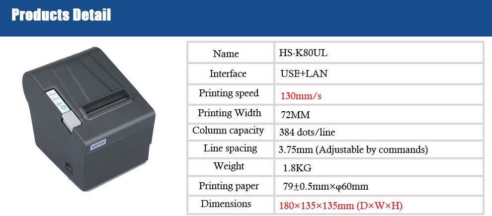 Cheap Receipt 80mm Pos Thermal Printer Driver Download Support 80 Paper  Size With Cutter Kl80ul - Buy Pos Receipt Printer Pos80,80mm Thermal  Printer