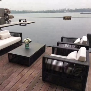 Patio Furniture Rattan Sofa With Cushion Covers, Outdoor Rattan Sofa Set