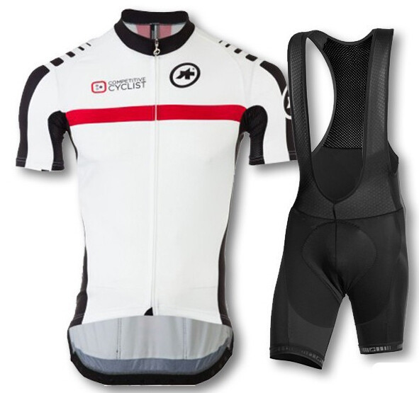 Get Quotations · maillot cycliste ASSOS white clothing Cycling jersey Pro  Cycling Mountain Bike Equipment Cycling Jersey+BIB 201cb0f56