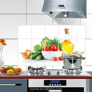 Syene new 3D eco-friendly oil proof vegetable and fruit kitchen wall sticker for tile mural wallpaper