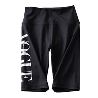 2019 custom design reflective vogue printed logo fifth length biker slim high quality sport gym running shorts ladies