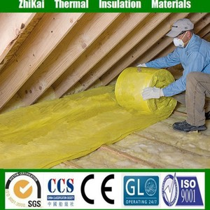 Insulation roof material 24kg/m3 Glass wool blanket