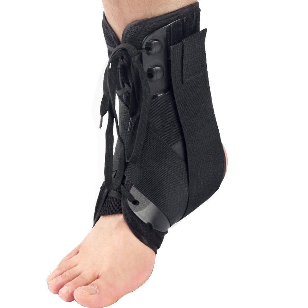 6f15530918 Get Quotations · KNASI Ankle Support Brace ,Stable And Adjustable Lace Up Ankle  Foot Stabilizer for Sprained Ankle