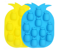 12 Cavity Pineapple Silicone Mold for Homemade Cake, Chocolate, Candy, Pudding, Lollipop, Jello, Bread, Muffin and More
