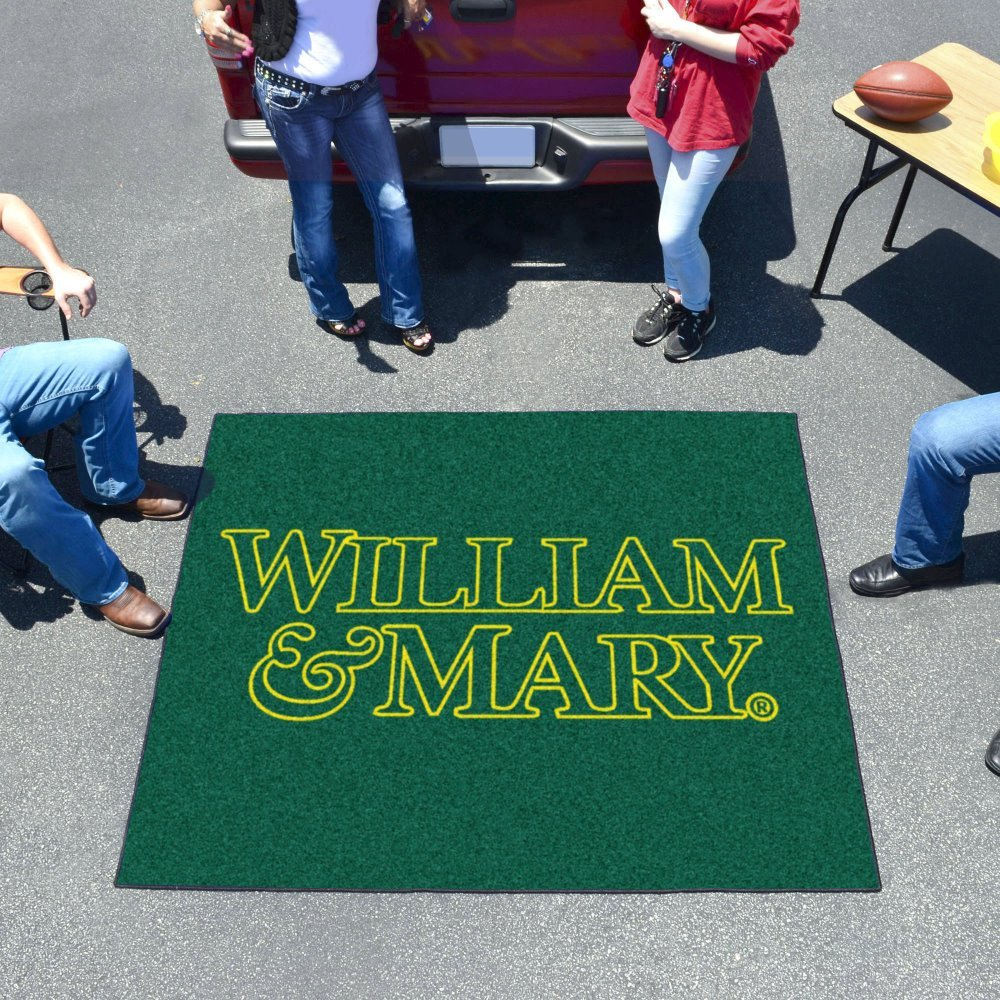 """Fanmats Sports Team Logo Mat College of William & Mary Tailgater Rug 60""""72"""""""