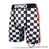 Custom printed elastic waistband mature men underwear boxer checker mens underwear boxer shorts