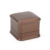 Dark Brown Color Pu Leather Personal Logo Custom Jewelry Storage Box For Necklace Bracelet Ring Display
