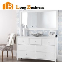 LB-DD5020 Modern white painted dresser table with 7 drawers