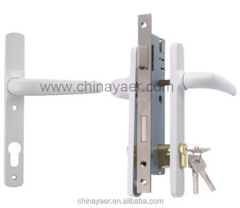 Dubai Popular Double Door Handles, Composite Door Lock Set