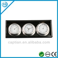aluminium table clock with temperature and humidity