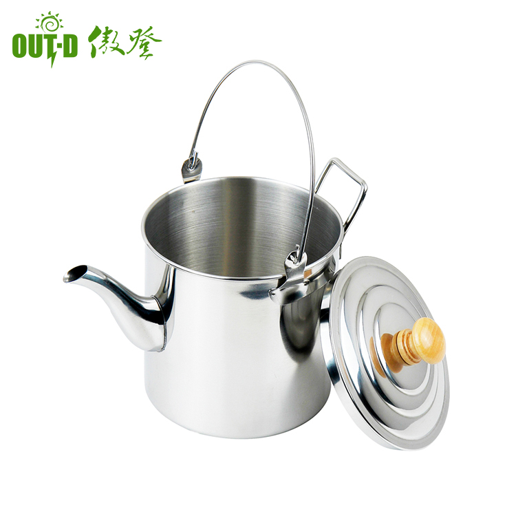 Camping hiking family stainless steel cooking tea water kettle / water bottle