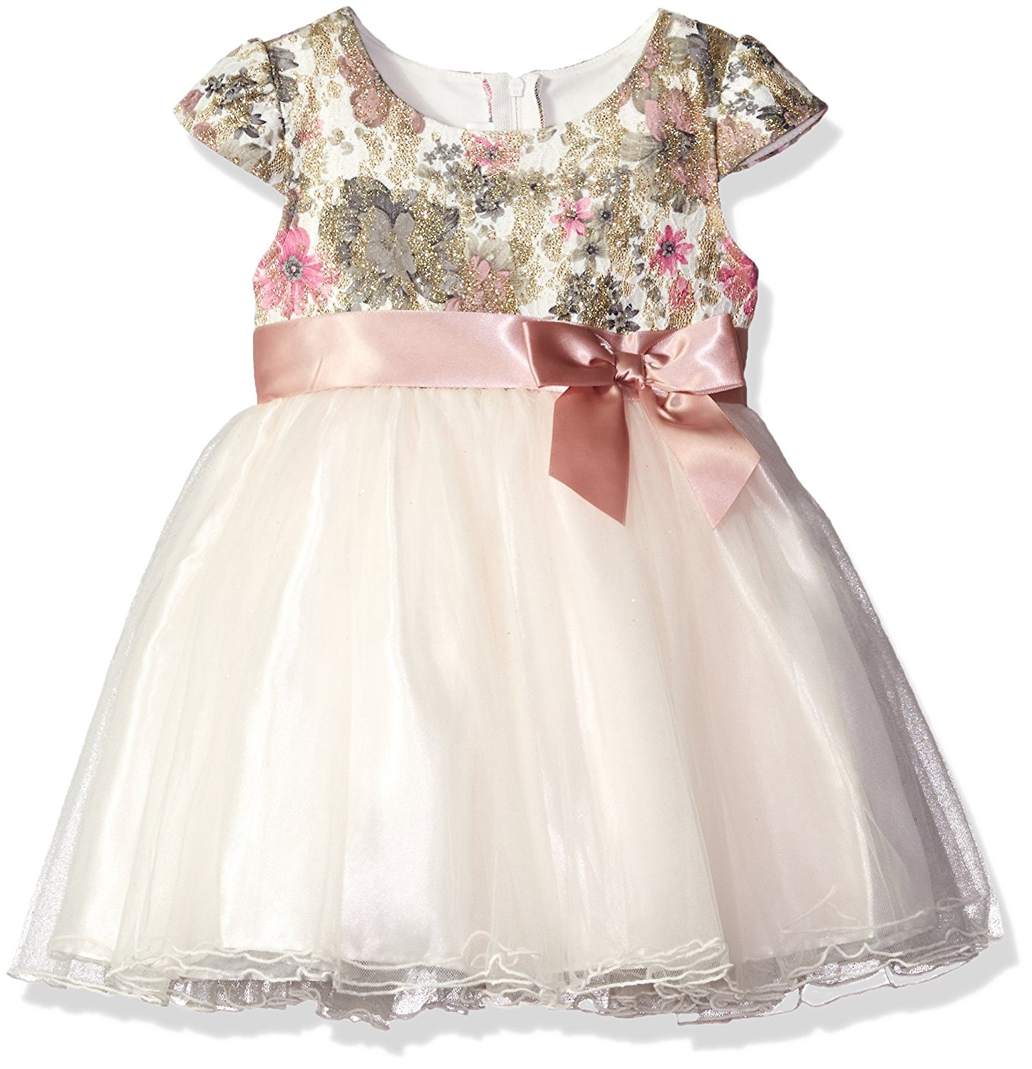 d5d005b94d Get Quotations · Bonnie Jean Girls' Short Sleeve Side Sash Ballerina Party  Dress