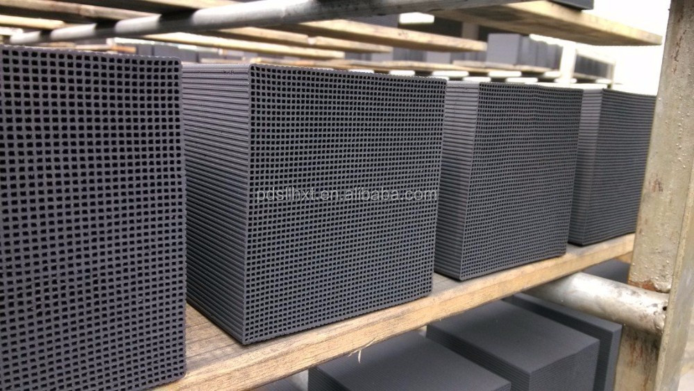Cube filter Honeycomb active carbon for air purification