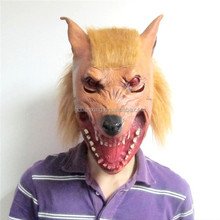 wolf with wig cheap human latex rubber Masks no toxic mask