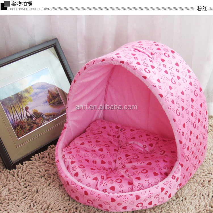 Soft Plush Warm Pet Bed Cave for Cats and Small to Medium Size Dogs and Cats S M L