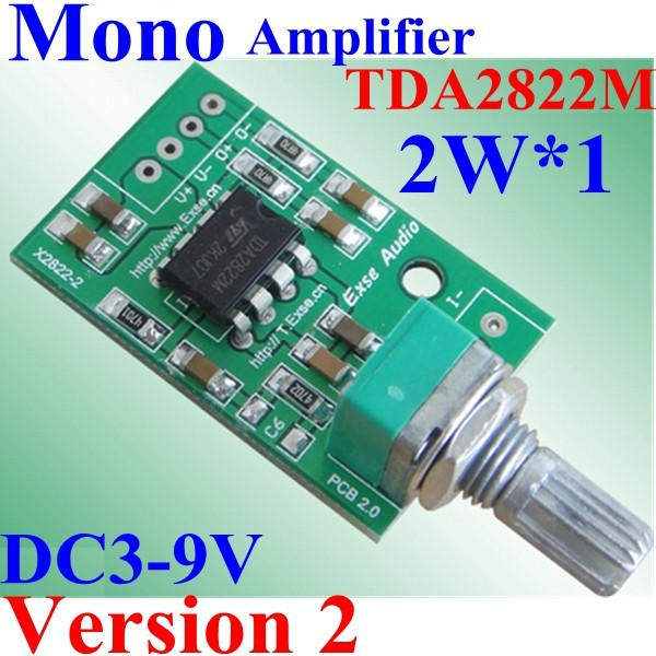 Assembly Plate Audio Power Amplifier Module Single Mono Channel Mini Size 2W Vesion 2