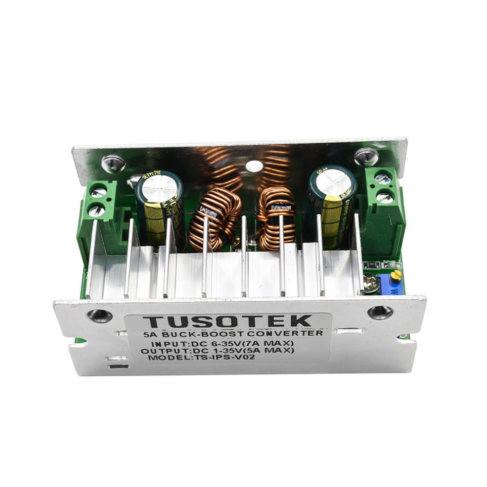 DC-DC Current Boost Buck Converter Power Voltage Regulator 6-35V to 1-35V 5A