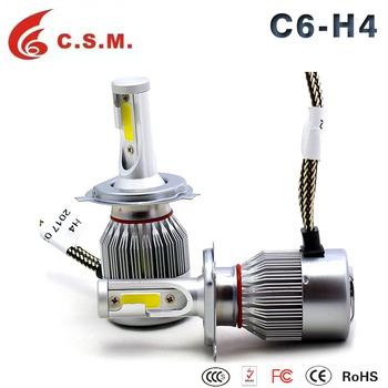 Auto Parts,Super Bright Led Headlight Bulb H4 C6 Led Headlight H7 ...