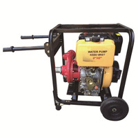 TOPOR hand starting 2inch diesel water pump with small fuel tank