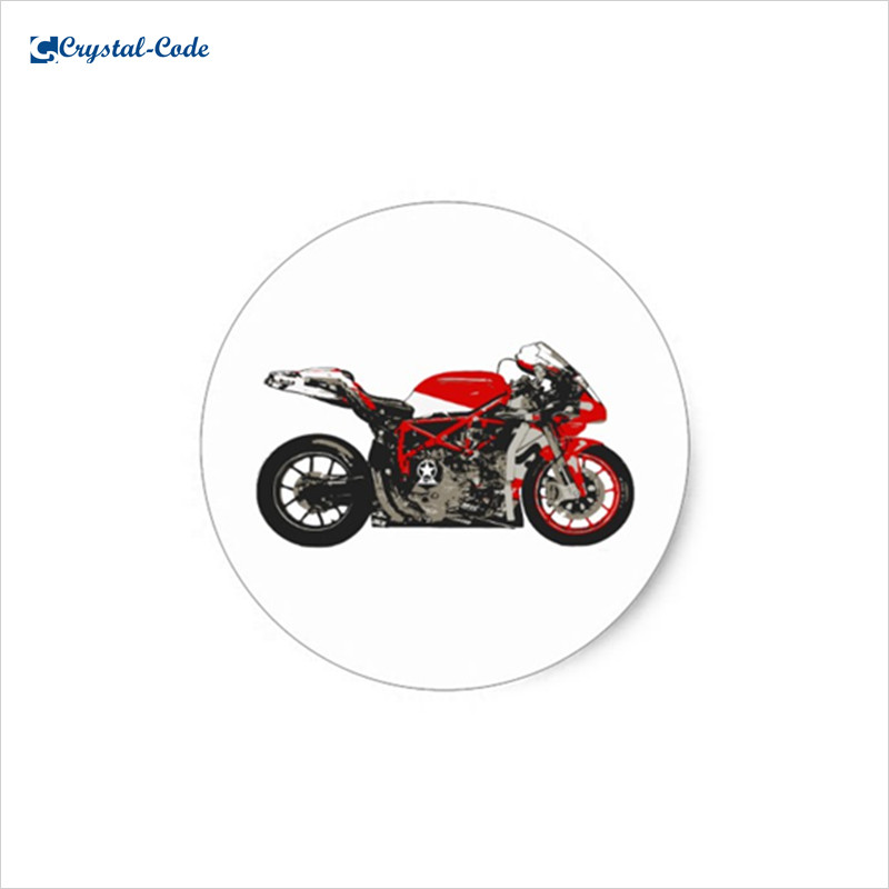 High quality new design racing motorcycle sticker design