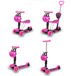 Alibaba china factory hot selling cheap price children 5 in 1 scooter three wheels