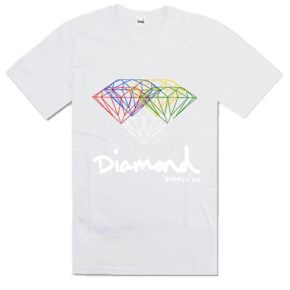 c9614cb50 Buy Summer Fashion Diamond Supply Co Men's t shirts Black white Cool  diamond supply tshirt Unique Design Short Sleeve Man Top Shirts in Cheap  Price on ...