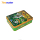 Chinese manufacturer wholesale cute cartoon rectangular vintage tin box
